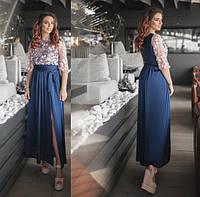 Коктейльное платье  / шелк иск. сетка / Украина 36-3831, фото 1