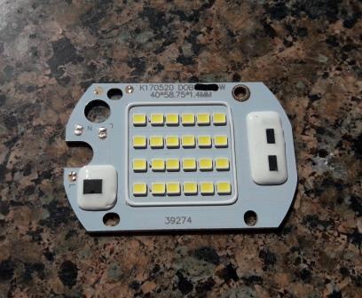 Светодиодный модуль. 220V-20W  с встроенным блоком питания. Матрица SMD +IC драйвер