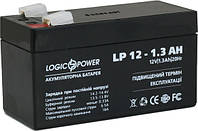 Аккумуляторная батарея LogicPower LP12-1.3  12V 1.3Ah