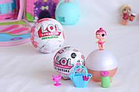 Куклы LOL SURPRISE серии LIL Sisters Glitter (small ball). ЛОЛ 3 серии (шар 7 см). Кукла в шаре