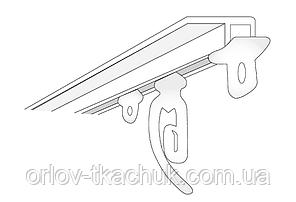 1-но полосный металлический потолочный карниз для штор