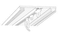 Усиленный 3-х полосный металлический карниз для штор
