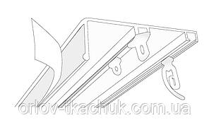 2-х полосный металлический карниз для штор с планкой для ламбрекена