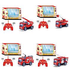 """Муз.""""Пожежна машина"""" машина батар. 128A-11/2/3/4 4 вида, світ, в кор."""