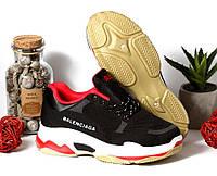 Кроссовки Balenciaga Черные с цветной подошвой, фото 1