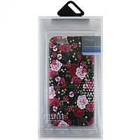 Чехол силиконовый для Sony Xperia XA (F3112) светящийся рисунок розы