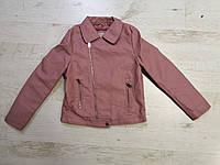 Куртки кожзам на меху на девочек оптом, Glo-story, 110-160 рр, фото 1