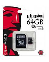 Карта памяти Kingston Micro SD 64 GB Class 10