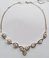 Колье серебряное Мираж с золотом и цирконием, фото 1