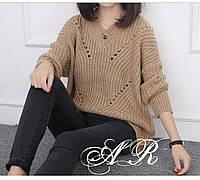 Теплый женский свитер свободного кроя, фото 1
