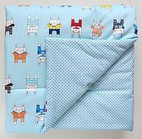 """Демисезонный плед-одеяло """"Зайчата"""" для новорожденных 75*75 см"""