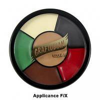 Грим для латексных изделий RMG 6 цветов в колесе, 30 мл