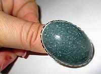 Кольцо с натуральным зеленым авантюрином, размер 18,4 от Студии  www.LadyStyle.Biz, фото 1