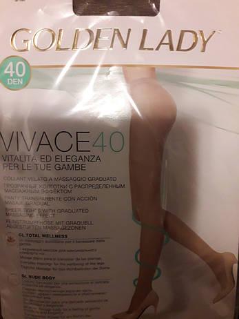 Колготки женские Golden Lady Vivace 40 den без шортиков, фото 2