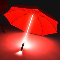 Светящийся зонт - трость с фонариком, фото 1