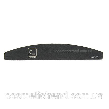 Пилка для ногтей двусторонняя абразивная 100/180 (черная) Сталекс, фото 2