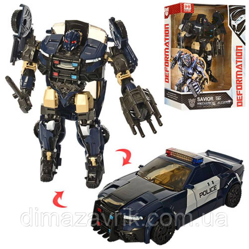 Трансформер 8001-5 18 см, робот+машина, в коробке22,5-29,5-8,5 см