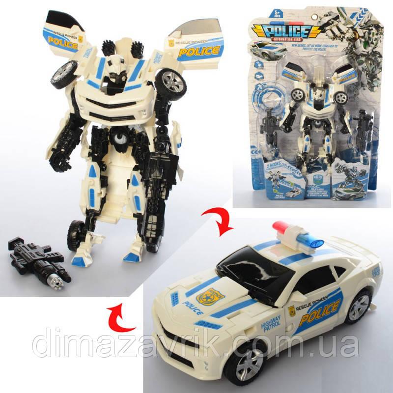 Трансформер YY-474 робот+машинка24 см, на листе28,5-43-7 см