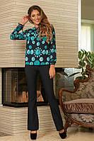 """Блузка женская стильная с ярким принтом размеры 42-46 (2 цвета) Серии """"LADA"""" купить оптом в Одессе на 7км"""