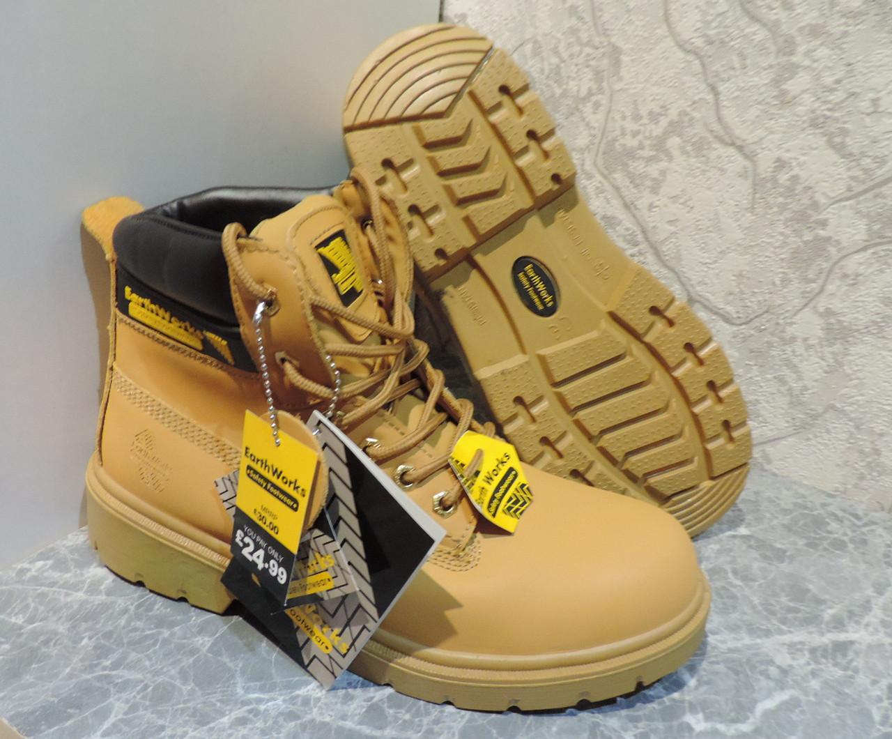 994ce31f92fc Мужские Ботинки Берцы Earth Works (Великобритания). Защитные Мужские  Кожаные Ботинки с Металлическим Носком — в Категории