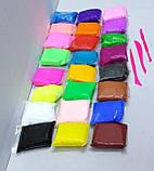 Масса для лепки 24 цвета + 3 стека, фото 6