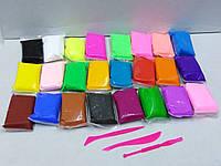 Масса для лепки 24 цвета + 3 стека, фото 1