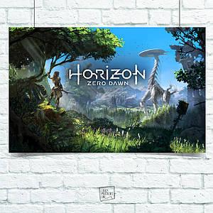 Постер Horizon Zero Dawn. Размер 60x42см (A2). Глянцевая бумага