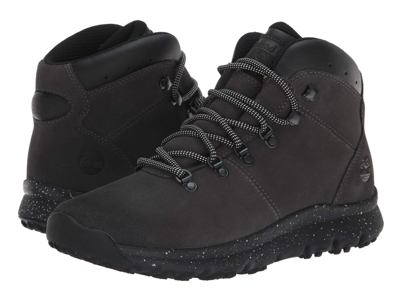 Ботинки Сапоги (Оригинал) Timberland World Hiker Mid Dark Grey Suede ... 088d7be3e6a