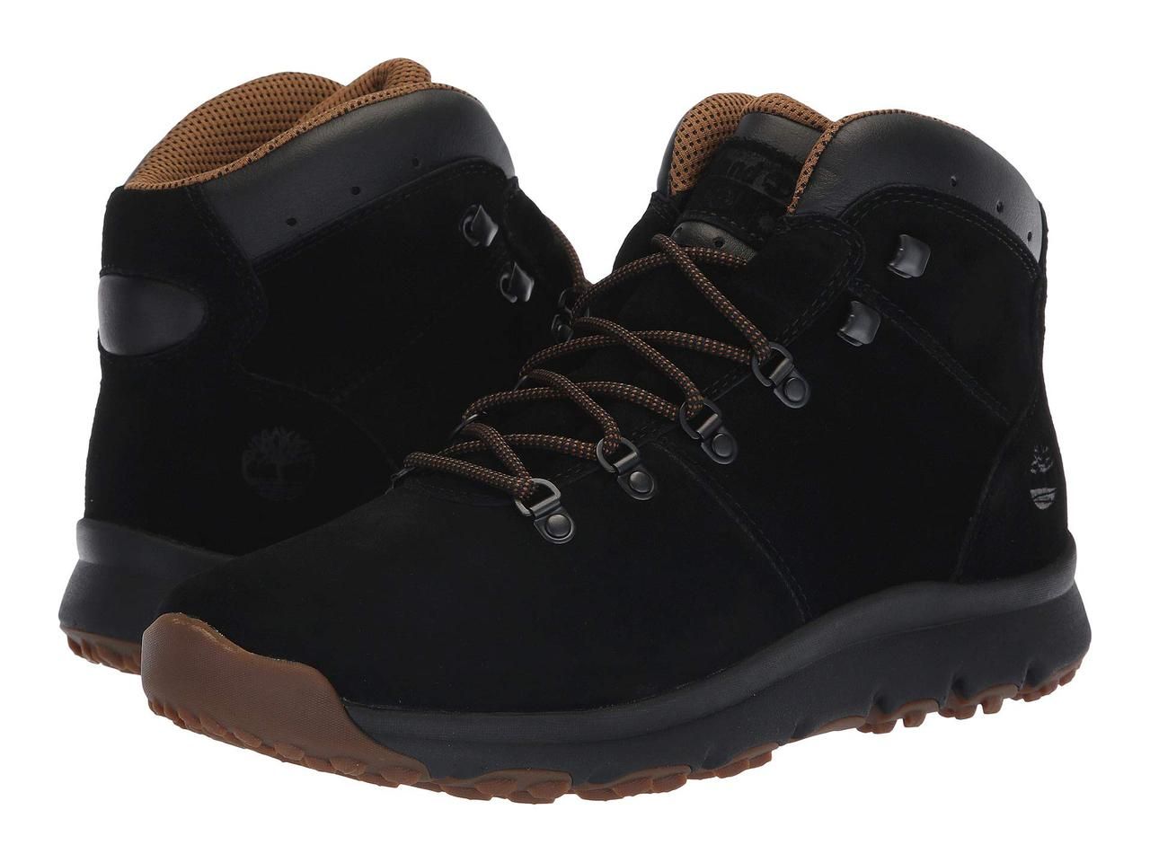 Ботинки Сапоги (Оригинал) Timberland World Hiker Mid Black Suede — в ... 44bb5a58edb