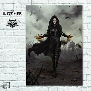 Постер Йенифер. Ведьмак, The Witcher. Размер 60x42см (A2). Глянцевая бумага