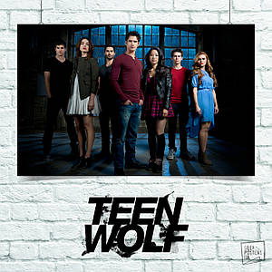 Постер Волчонок, Teen Wolf. Размер 60x42см (A2). Глянцевая бумага