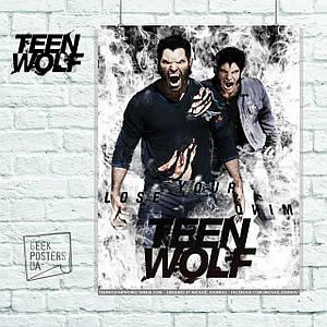 "Постер ""Teen Wolf (Волчонок). Два оборотня"". Размер 60x46см (A2). Глянцевая бумага"