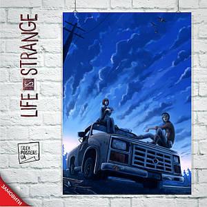 """Постер Life Is Strange, """"Жизнь - странная штука"""". Размер 60x42см (A2). Глянцевая бумага"""