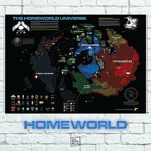 Постер Homeworld Universe Map (60x85см)