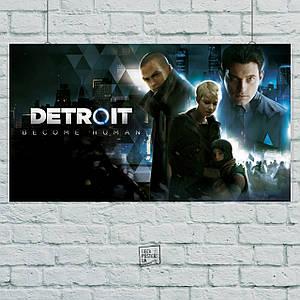 Постер Detroit: Become Human, Детройт. Размер 60x34см (A2). Глянцевая бумага