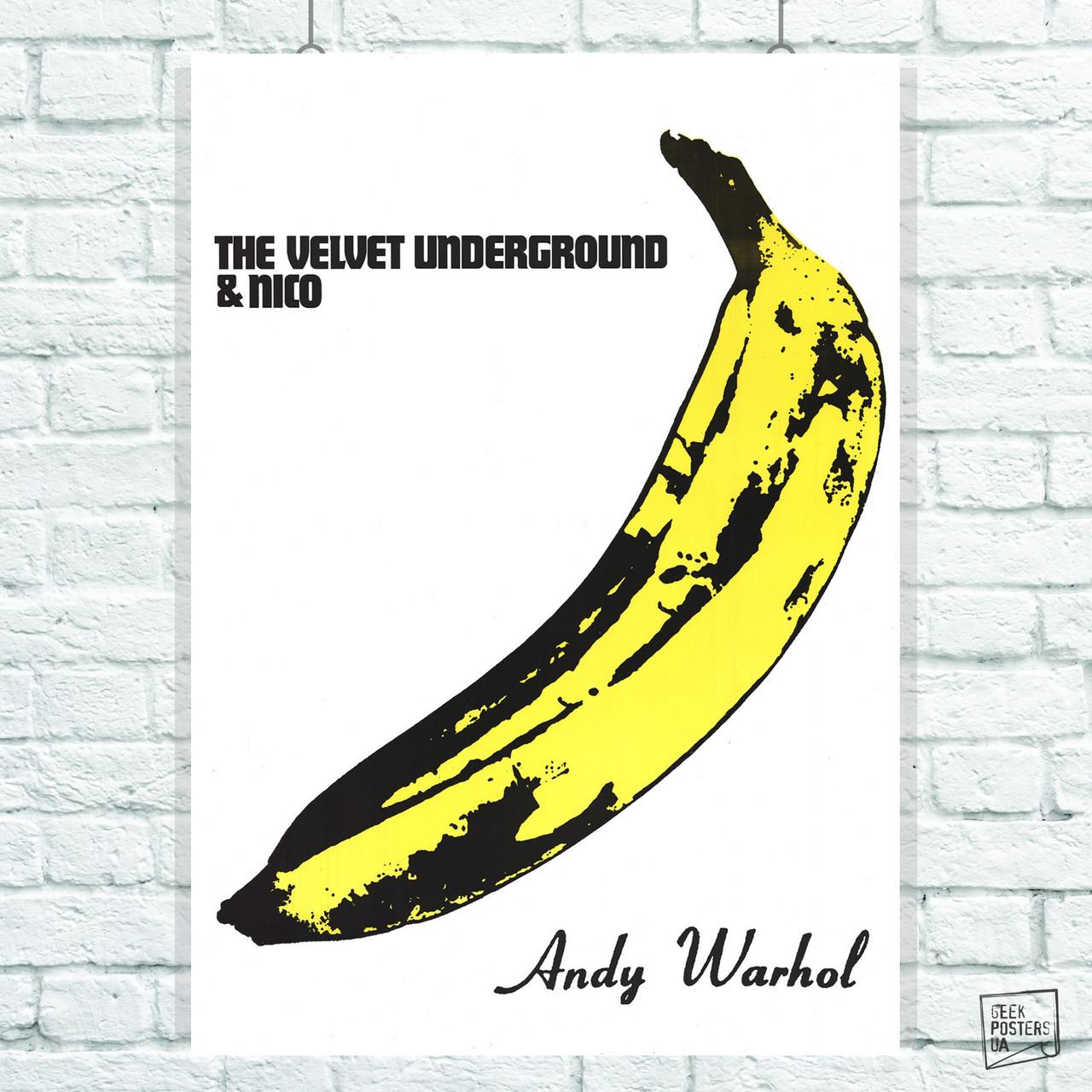 Постер The Velvet Underground. Размер 60x43см (A2). Глянцевая бумага