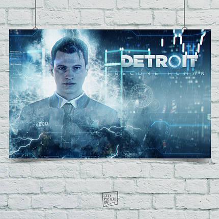 Постер Detroit: Become Human, Детройт. Размер 60x42см (A2). Глянцевая бумага, фото 2