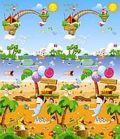 "Детский развивающий коврик пол Babypol ""Морская прогулка"" 1,8 х 1,5 м , фото 1"