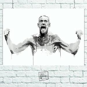 Постер Conor McGregor (UFC). Размер 60x42см (A2). Глянцевая бумага