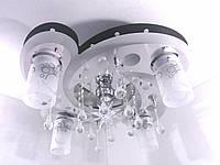 """Люстра потолочная """"Космос"""" с цветной LED подсветкой и автоматическим отключением с пультом (20х43х54 см.) Черный, хром YR-5533/4+1"""