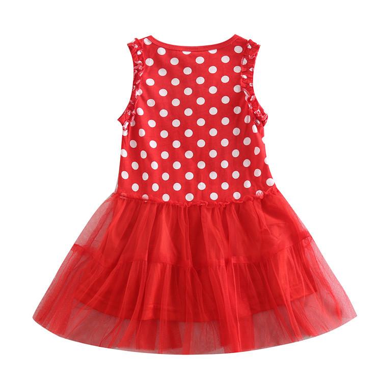 6cce644f89b Детское летнее красное платье в белый горох Свинка Пеппа - купить по ...