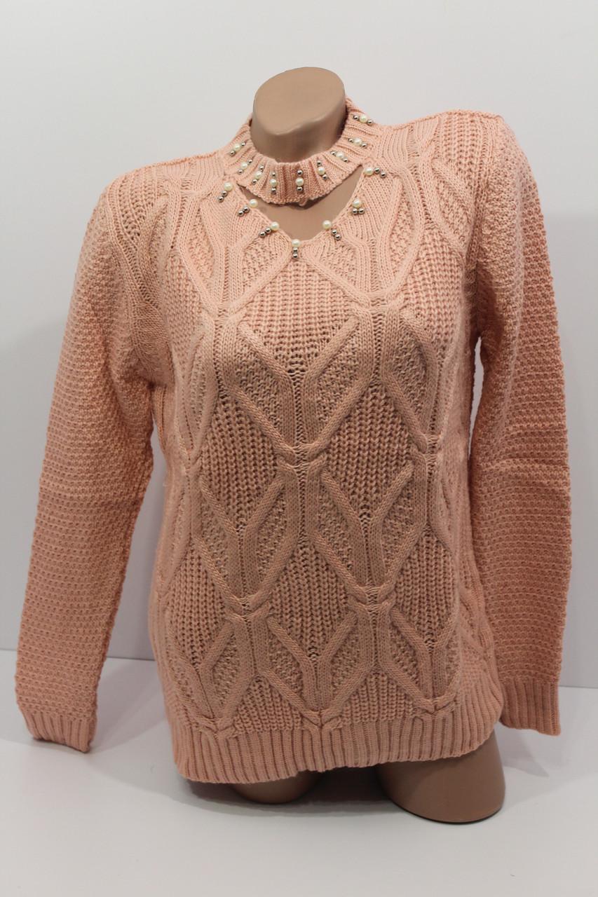 Вязаные женские свитера полубатал оптом А 1021