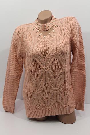 Вязаные женские свитера полубатал оптом А 1021, фото 2