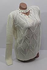 Вязаные женские свитера полубатал оптом А 1021, фото 3