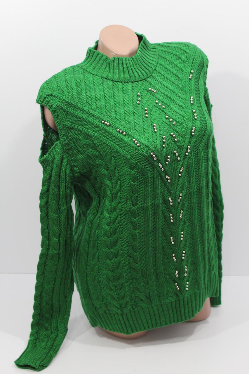 Вязаные женские свитера полубатал оптом А 1025
