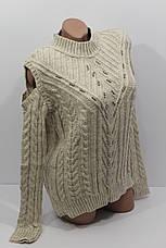 Вязаные женские свитера полубатал оптом А 1025, фото 3