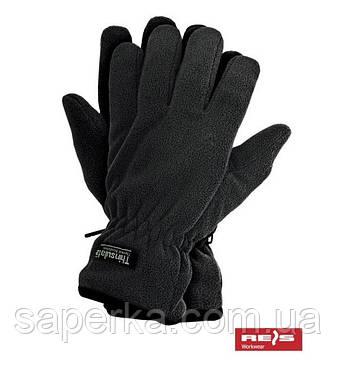 Зимние перчатки флисовые Thinsulate 40 gram, Черный (Тинсулейт), фото 2