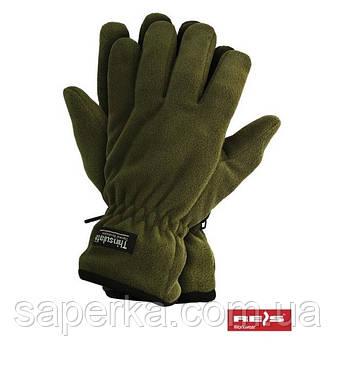 Перчатки мужские флисовые Thinsulate 40 gram, Олива (Тинсулейт), фото 2