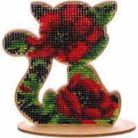Набор для вышивки бисером по дереву Котик