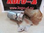 Замок зажигания ВАЗ 2101, ВАЗ 2104, ВАЗ 2105, ВАЗ 2106, ВАЗ 2107 , железный ключ без. упаковки